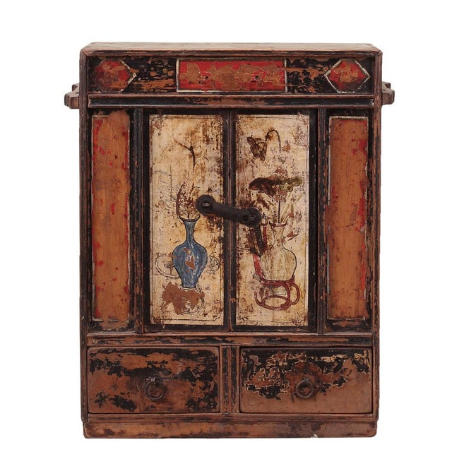 C. 1920 Chinese Painted Cabinet - Image 4 of 4