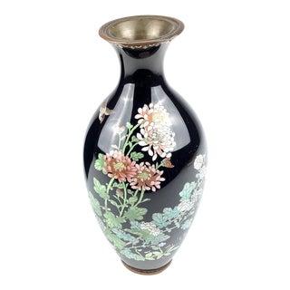 Meiji Period Japanese Cloisonne Vase For Sale