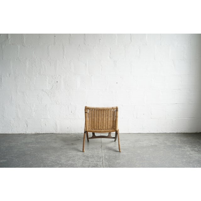 Woven Chord Lounge Chair For Sale - Image 4 of 5