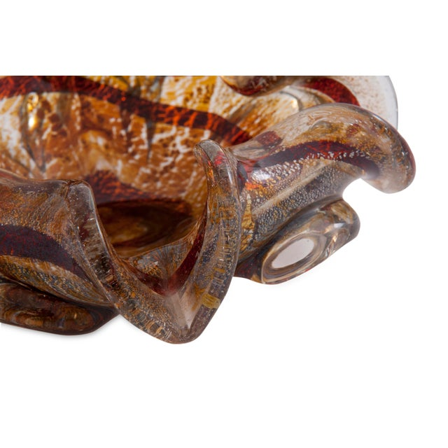 Tortoise Shell Murano Glass Dish For Sale - Image 4 of 6