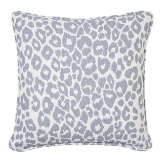 Schumacher Iconic Leopard Pillow in Sky For Sale
