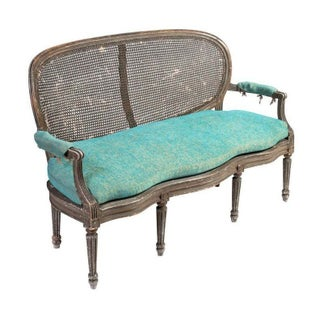 Caned Oval-Backed Loveseat from Zerline, Paris