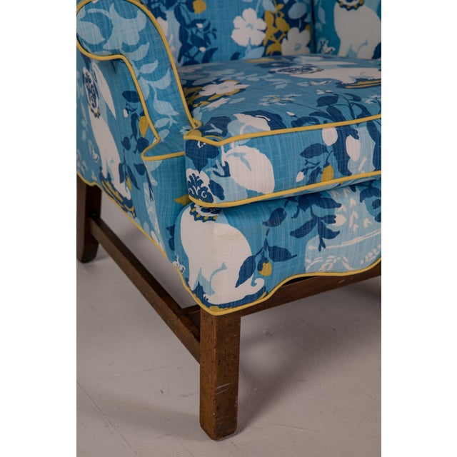 Blue Vintage Mid Century Madcap Cottage Pug Chair For Sale - Image 8 of 11