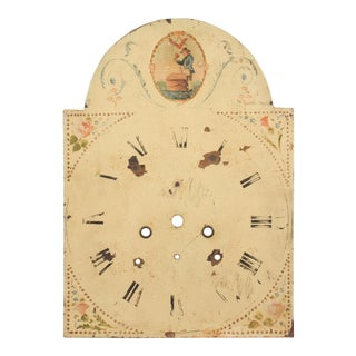 19th-C. Hand-Painted Freemasonry Clock Face For Sale