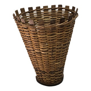 French or German Grape Harvest Basket For Sale