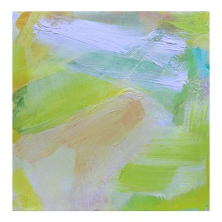 """Morning Mist"" Mini Abstract Oil Painting by Trixie Pitts For Sale"