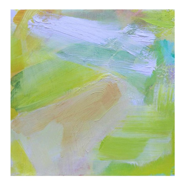 """""""Morning Mist"""" Mini Abstract Oil Painting by Trixie Pitts For Sale"""
