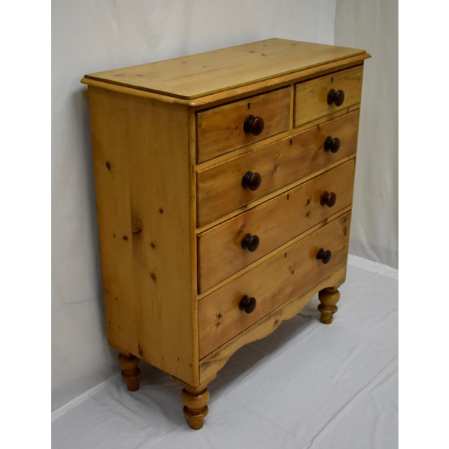 Country English Victorian Pine Chest of Drawers For Sale - Image 3 of 12