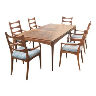 1950s Mid Century Modern Lane Rhythm Dining Set - 7 Pieces For Sale