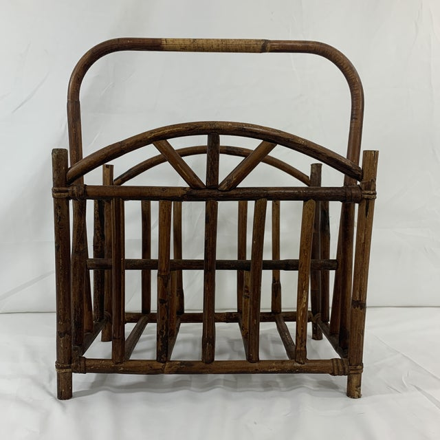 English Bamboo Magazine Rack Ca 1900-1920 For Sale - Image 9 of 9