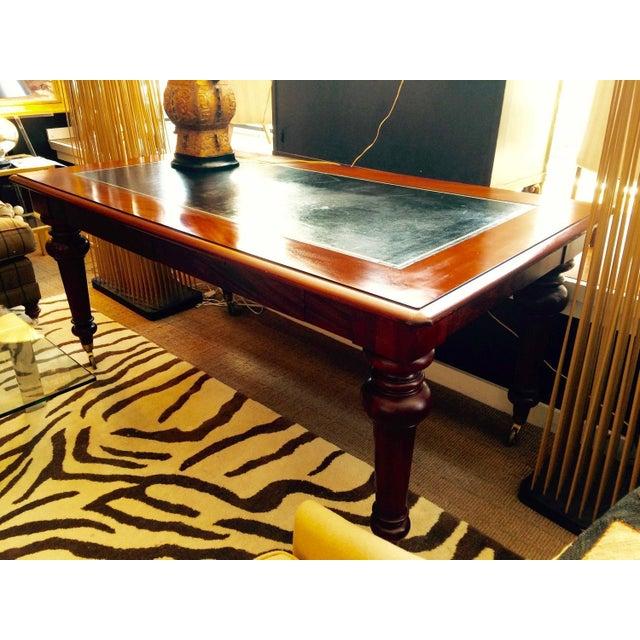 Mahogany & Leather Ralph Lauren Desk - Image 3 of 6