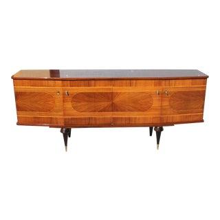 1940s French Art Deco Exotic Macassar Bony ''Sunburst ''Sideboard / Buffet For Sale