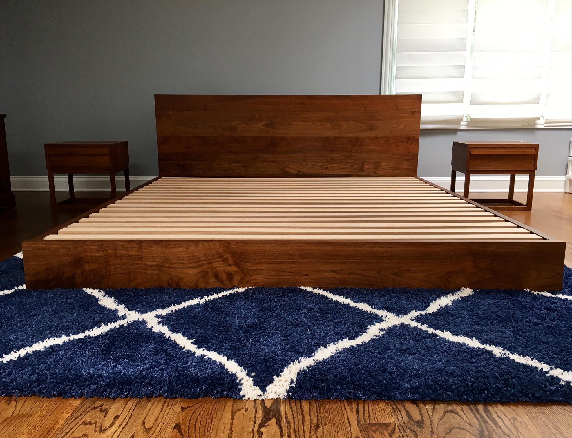 Modern Platform Atlantico Walnut Bed By De La Espada   Image 6 Of 6