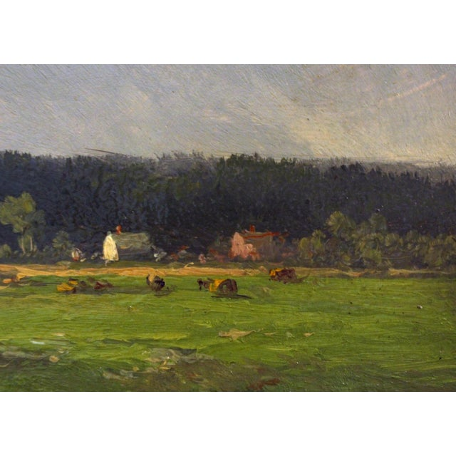 """Country Late 19th Century Antique Thomas Bigelow Craig """"Berkshire Meadows"""" Painting For Sale - Image 3 of 5"""
