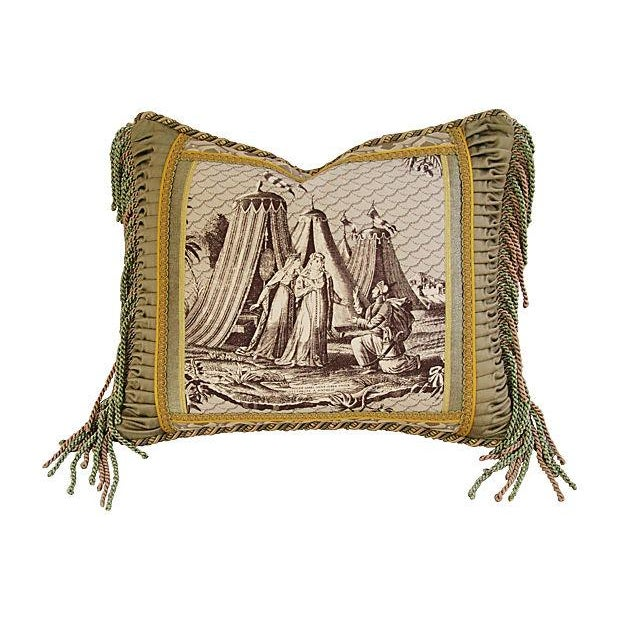 Designer Jane Shelton French Toile Accent Pillow - Image 1 of 6