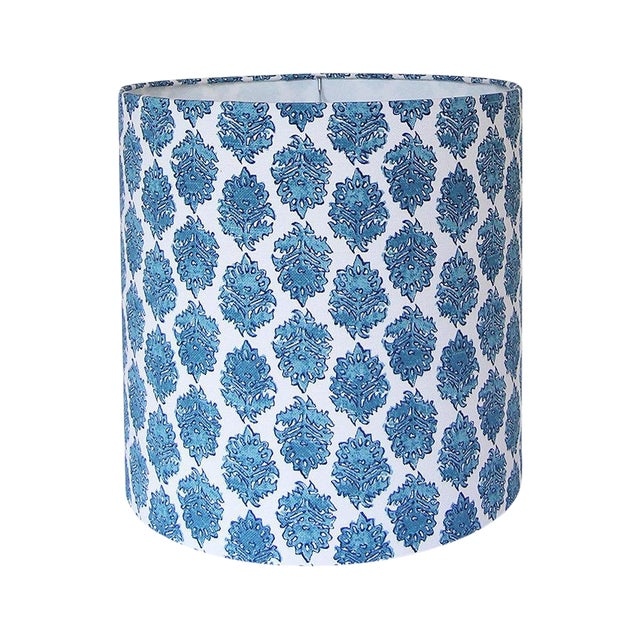Aqua Drum Lamp Shade For Sale