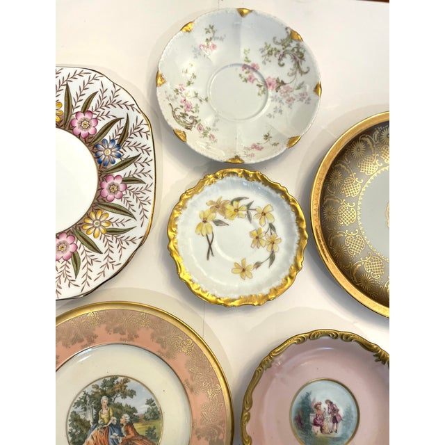 Vintage Pink and Gold Mixed Decorative Plates- a Set 12 For Sale - Image 12 of 13