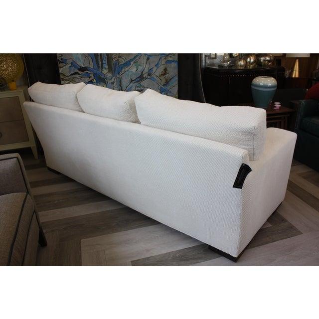 Century Furniture Contemporary Century Furniture White Fabric Sofa For Sale - Image 4 of 7