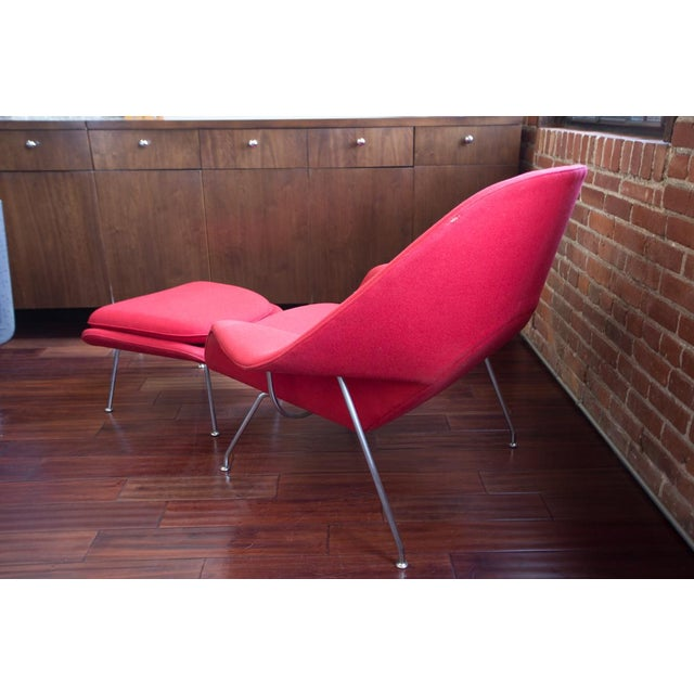 Eero Saarinen for Knoll Womb Chair & Ottoman For Sale In San Francisco - Image 6 of 8