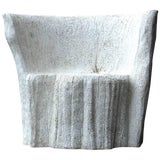 "Image of Zachary A. Design Natural Concrete Finish Cast Resin ""Acacia"" Chair For Sale"