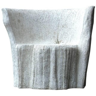 "Zachary A. Design Natural Concrete Finish Cast Resin ""Acacia"" Chair For Sale"