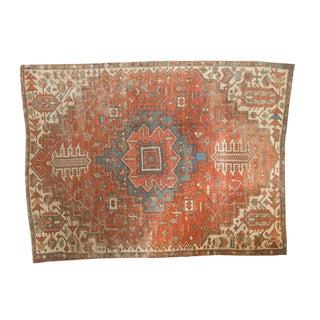 "Antique Fragmented Serapi Carpet - 7'7"" X 10'5"" For Sale"