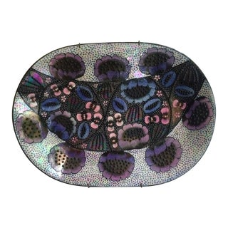 BIRGER KAIPIAINEN Ceramic Wall Plate - Bees and Sunflower ca. 1970 For Sale
