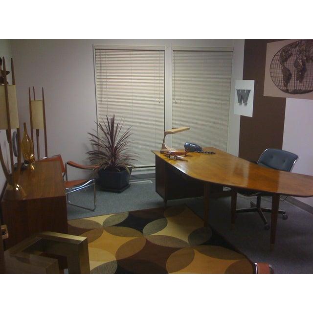 Standard Mid Century Boomerang Desk For Sale - Image 7 of 7