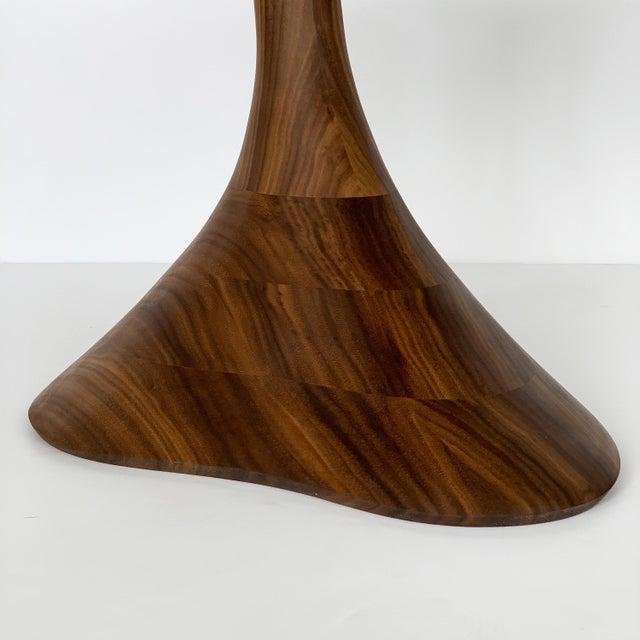 """Sculptural Solid Walnut """"Pedem"""" Side Table Morten Stenbaek - A Pair For Sale - Image 12 of 13"""