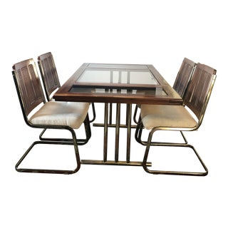 1980s Mid Century Modern Chromcraft Dining Set - 5 Pieces For Sale