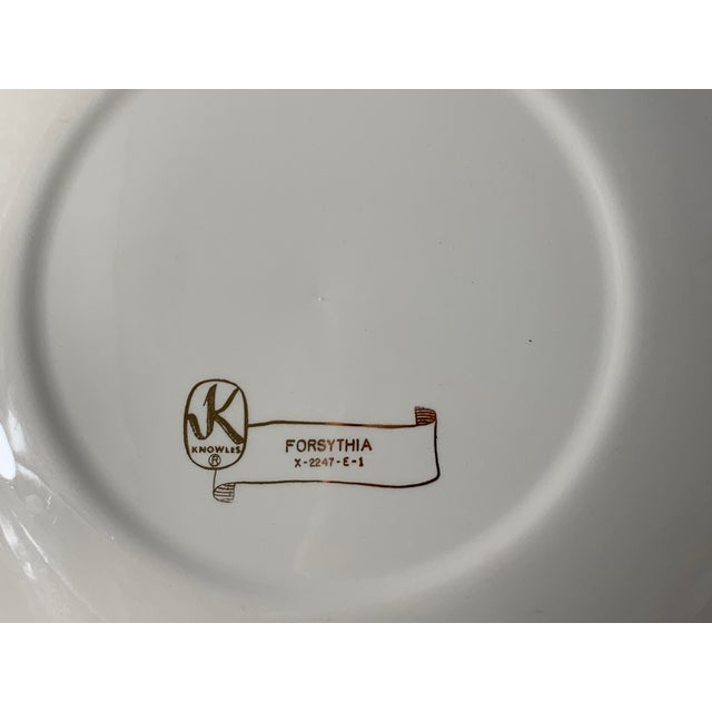 Vintage Forsythia Pattern by Edwin Knowles China Company Dinnerware - 47 Piece For Sale In Charlotte - Image 6 of 13