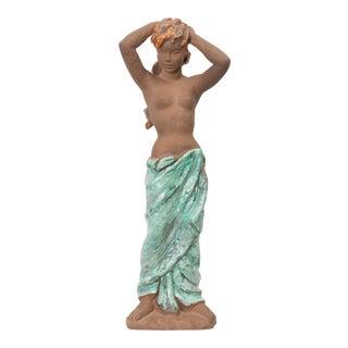C. 1940 Karlsruhe Standing Female Semi-Nude Figure For Sale