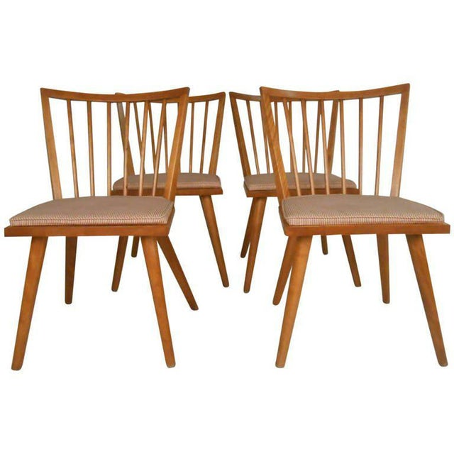 Leslie Diamond for Conant-Ball Mid-Century Chairs - Set of 4 For Sale - Image 11 of 11