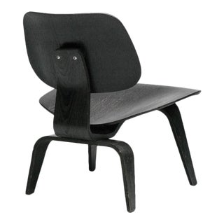Charles Eames Black Aniline LCW Chair
