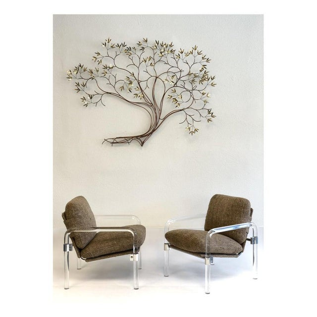 Brass Copper and Brass Tree Wall Sculpture by Curtis Jeré For Sale - Image 7 of 8
