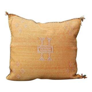 Apricot' Moroccan Sabra Silk Pillow For Sale