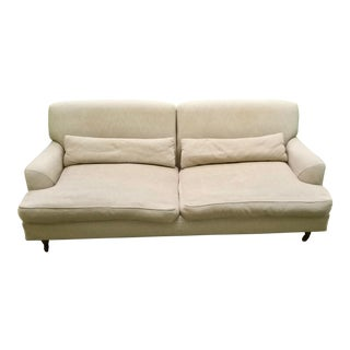 Custom De Padova - DePadova Raffles Chesterfield Style Sofa in Linen Blend Upholstery For Sale