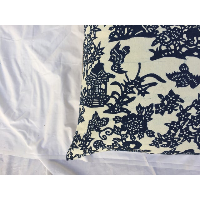 Blue & White Chinoiserie Pillows - A Pair - Image 3 of 9