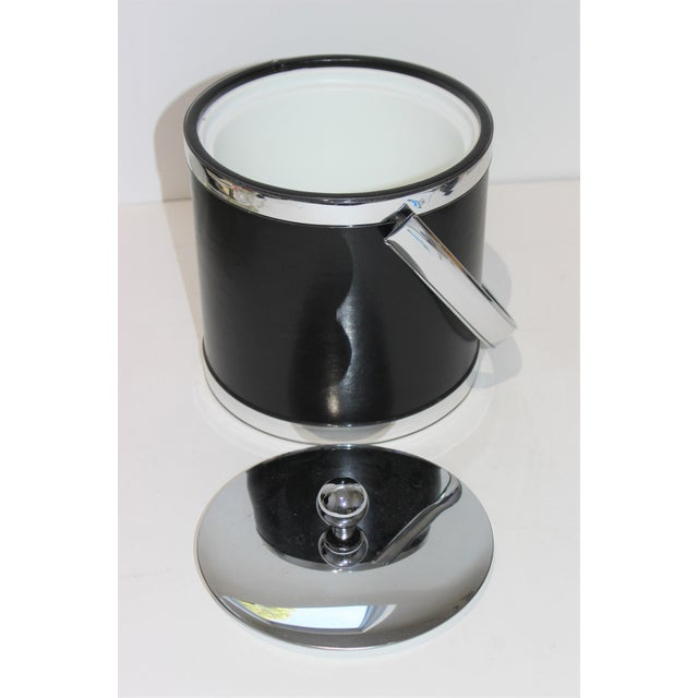 Vintage Kraftware Ice Bucket in Faux Leather from a South Beach estate.