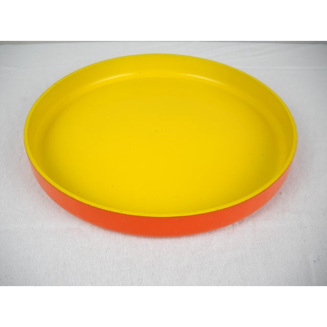 Op Art Yellow Orange Serving Tray For Sale - Image 9 of 9