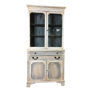 Vintage Hand Painted China Hutch