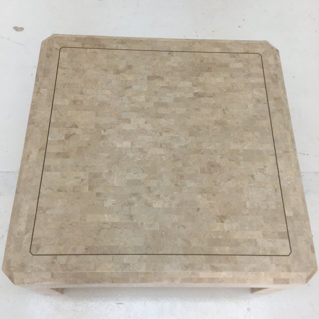 Art Deco Art Deco Maitland Smith Tessellated Stone Coffee Table For Sale - Image 3 of 13