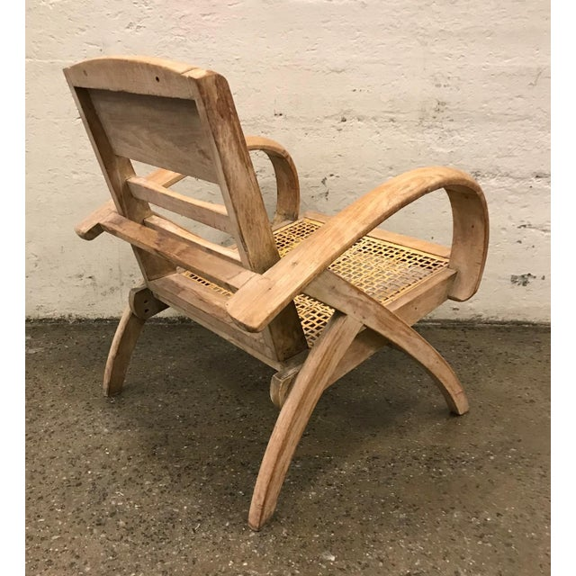 French 1950s Cerused Lounge Chair Attributed to Rene Gabriel For Sale - Image 3 of 8