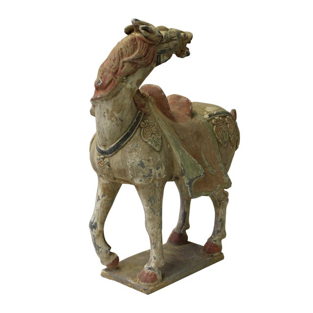 Chinese Pottery Clay Ancient Style Rustic Horse Figure - Image 5 of 7