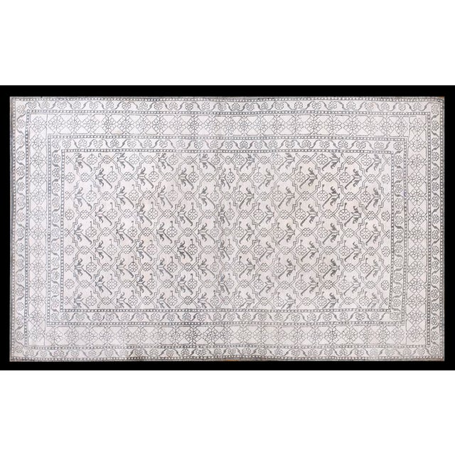 """1920s Traditional Gray and White Wool Rug - 4'x6'7"""" For Sale In New York - Image 6 of 6"""