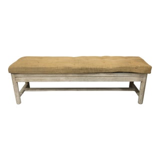 20th Country French Oak Hall Bench For Sale