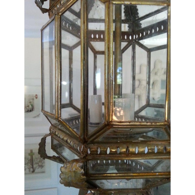 Metal Mid-Century Spanish Colonial Style Chandelier For Sale - Image 7 of 12
