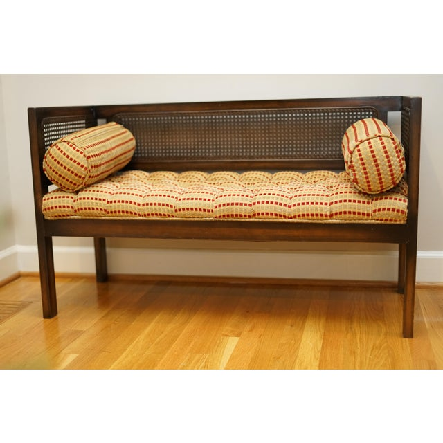 Mid-Century Modern Lewitte's Cane Settee For Sale - Image 11 of 11
