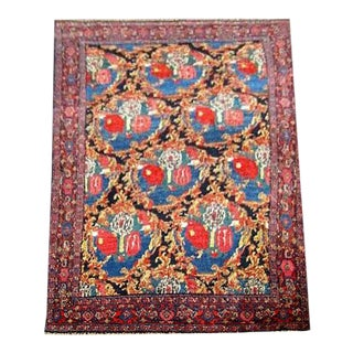 "1920s Vintage Persian Senneh Kurdistan Rug-4'5'x6'4"" For Sale"