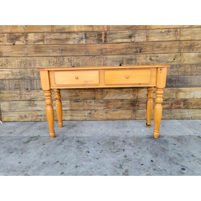 1980s Rustic Console Table with Drawers For Sale - Image 9 of 13